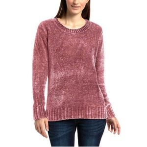 Orvis Rose Chenille Crew Neck Pullover Sweater